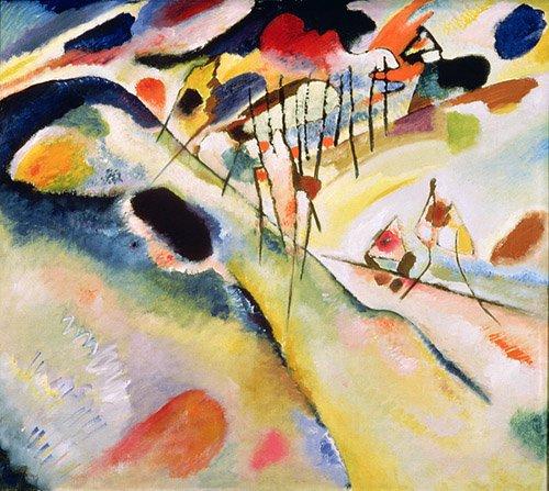 abstrakte-gemaelde - Landschaft, 1913 - Kandinsky, Wassily