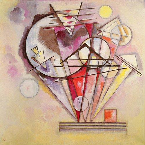 abstrakte-gemaelde - Auf den Punkten, 1928 - Kandinsky, Wassily