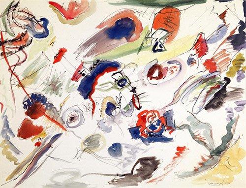 abstrakte-gemaelde - Ohne Titel - Erste Abstraktion, 1910 - Kandinsky, Wassily