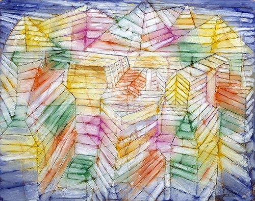 abstrakte-gemaelde - Theater - Berg - Bau - Klee, Paul