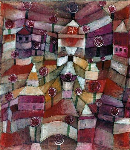 abstrakte-gemaelde - Rosengarten - Klee, Paul