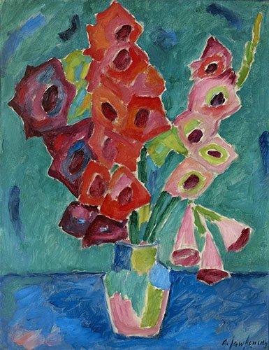 flur-treppenhause - Gladiolen, 1915 - Jawlensky, Alexej von