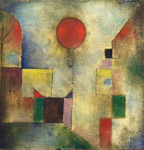 abstrakte-gemaelde - Roter Ballon - Klee, Paul