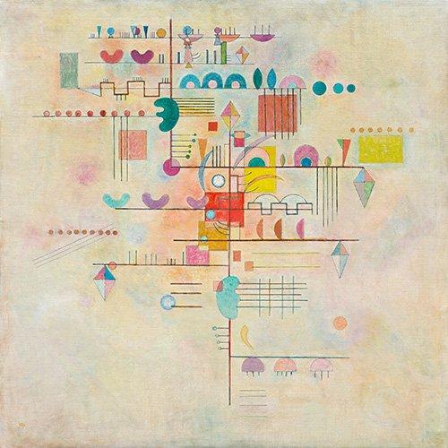 abstrakte-gemaelde - Gentle accent, 1934 - Kandinsky, Wassily