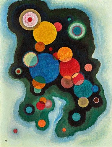 abstrakte-gemaelde - Vertiefte Regung, 1928 - Kandinsky, Wassily