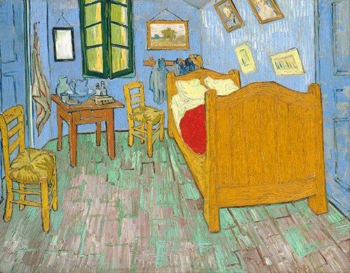 stillleben-gemaelde - Van Goghs Schlafzimmer in Arles, 1889 - Van Gogh, Vincent