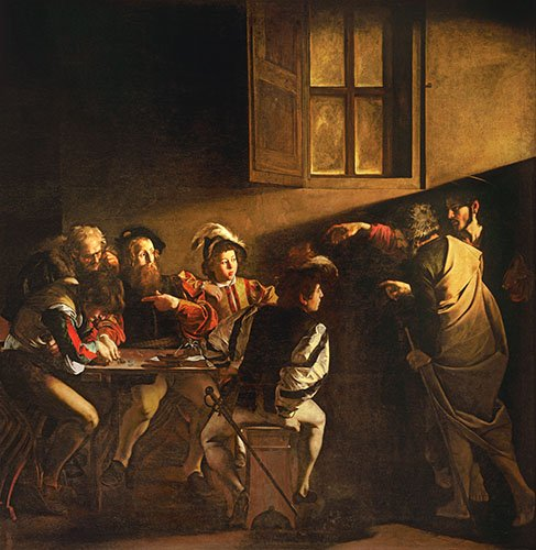 religioese-gemaelde - Die Berufung des Heiligen Matthäus - Caravaggio - Caravaggio, Michelangelo M.