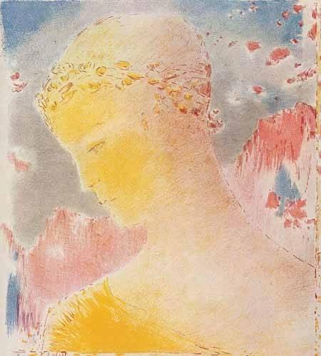 portraetgemaelde - Mujer dorada - Redon, Odilon