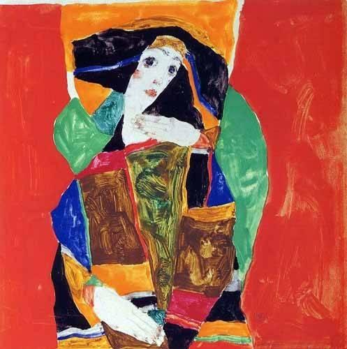 portraetgemaelde - Portrait Of Valerie Neuzil - Schiele, Egon