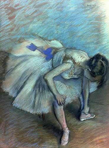 portraetgemaelde - Ballerine assise - Degas, Edgar