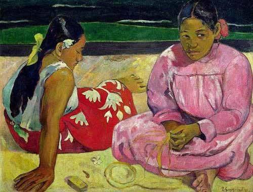 portraetgemaelde - Mujeres de Tahití en la playa - Gauguin, Paul