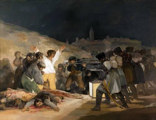 portraetgemaelde - Ejecución de los defensores de Madrid, 3 de mayo de 1808 - Goya y Lucientes, Francisco de