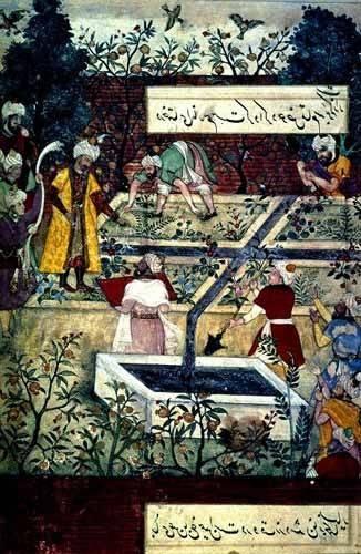 orientalische-gemaelde - Memorias de Babur, Emperador con su proyecto - Mughal