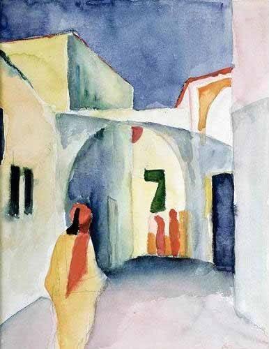 portraetgemaelde - A Glance Down an Alley - Macke, August