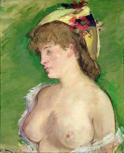 portraetgemaelde - La blonde aux seins nus - Manet, Eduard