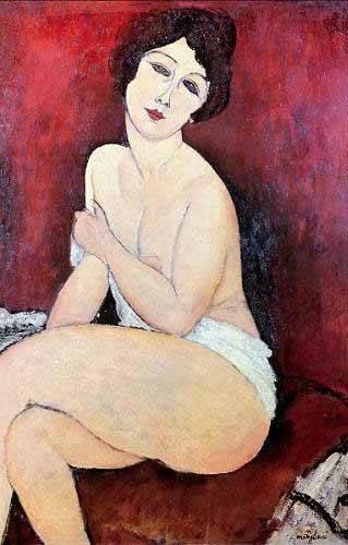 portraetgemaelde - Large Seated Nude - Modigliani, Amedeo