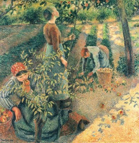 portraetgemaelde - Cueilleurs de pommes - Pissarro, Camille
