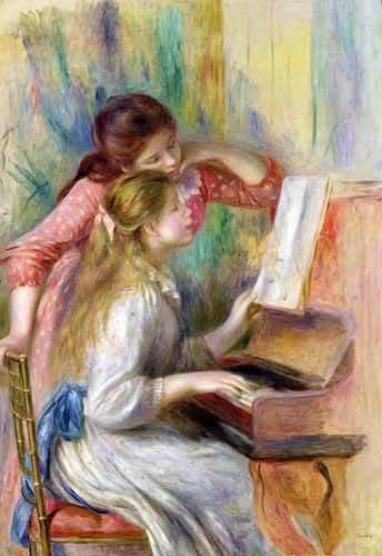 portraetgemaelde - Jeunes filles au piano - Renoir, Pierre Auguste