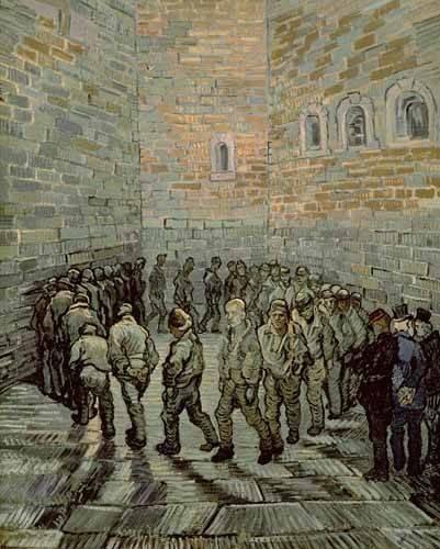 portraetgemaelde - Der Gefängnishof, 1890 - Van Gogh, Vincent
