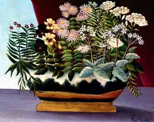 blumen-und-pflanzen - Fleurs de poète, 1890 - Rousseau, Henri