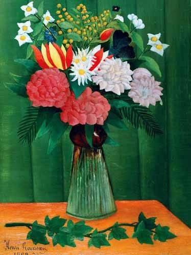 blumen-und-pflanzen - Flores en un jarrón - Rousseau, Henri