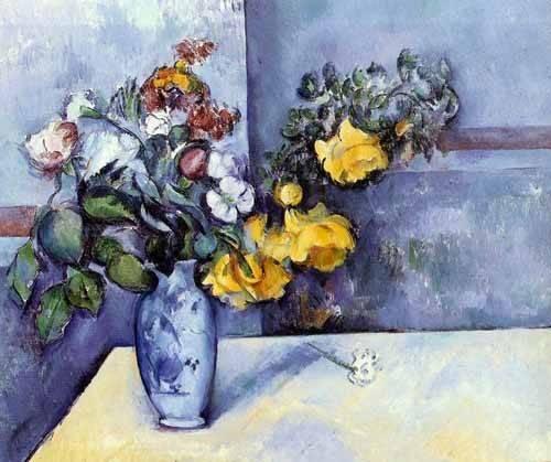 blumen-und-pflanzen - Fleurs dans un vase - Cezanne, Paul