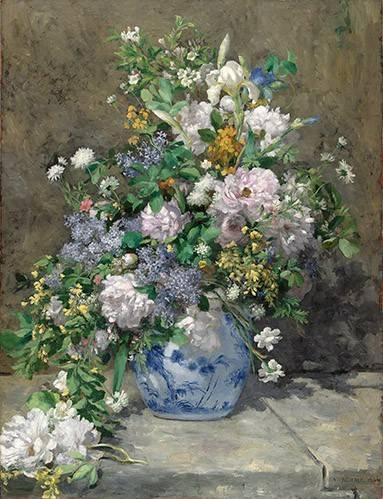 blumen-und-pflanzen - Bouquet de printemps - Renoir, Pierre Auguste