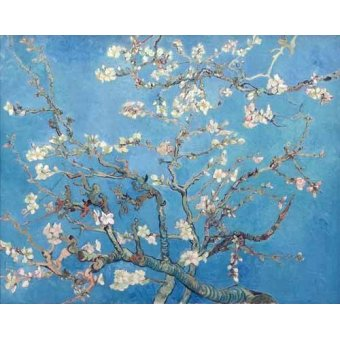 Landschaften Gemälde - Mandelbaum in Blüte (Mandelblüte) - Van Gogh, Vincent