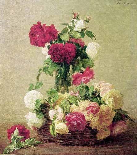 blumen-und-pflanzen - Rosas - Fantin Latour, Henri