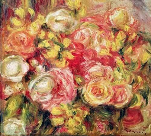 blumen-und-pflanzen - Roses 1915 - Renoir, Pierre Auguste