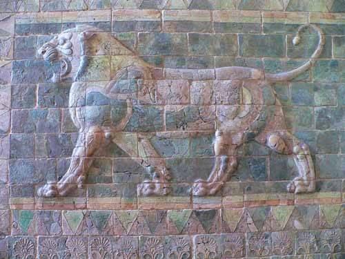 bilderrahmen - Friso de un león del palacio de Darius I - _Anonym Persien