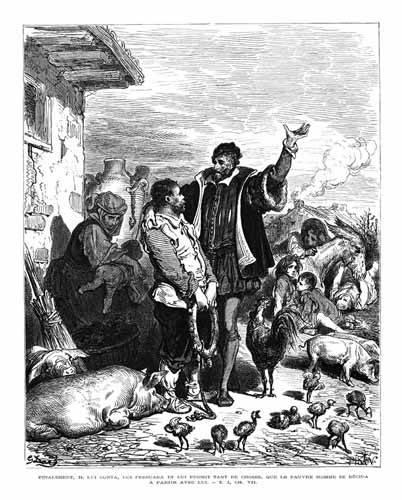 alte-karten-und-zeichnungen - El Quijote 1-44 - Doré, Gustave