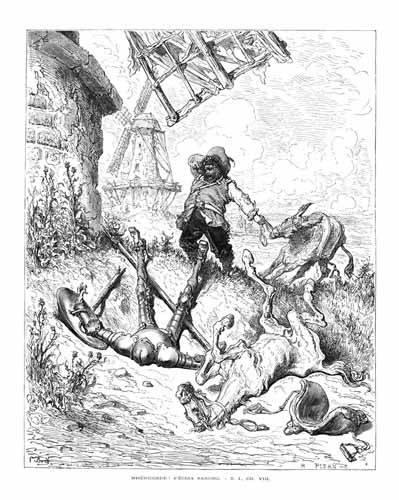 alte-karten-und-zeichnungen - El Quijote 1-50 - Doré, Gustave
