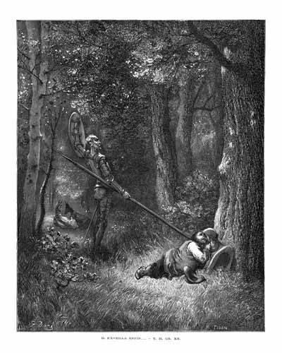 alte-karten-und-zeichnungen - El Quijote 2-132 - Doré, Gustave