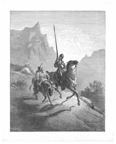 alte-karten-und-zeichnungen - El Quijote 0-0 - Doré, Gustave