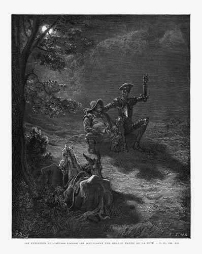 alte-karten-und-zeichnungen - El Quijote 2-76 - Doré, Gustave