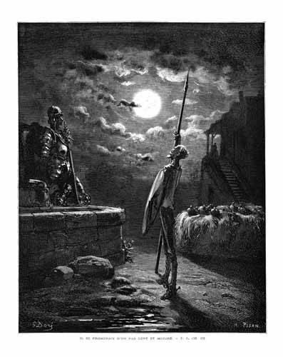 alte-karten-und-zeichnungen - El Quijote 1-22 - Doré, Gustave