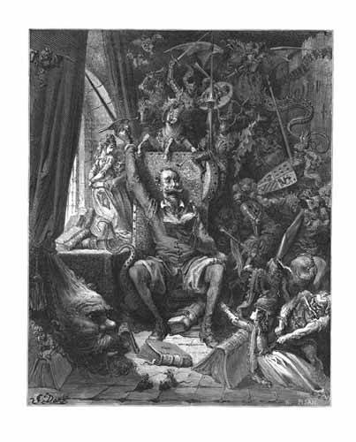 alte-karten-und-zeichnungen - El Quijote - Doré, Gustave