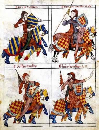 alte-karten-und-zeichnungen - Libro de los caballeros de Santiago-1 - _Anonym Spanien