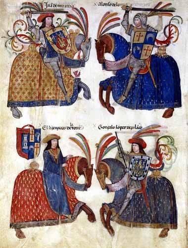 alte-karten-und-zeichnungen - Libro de los caballeros de Santiago-3 - _Anonym Spanien