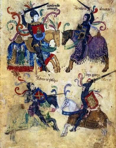alte-karten-und-zeichnungen - Libro de los caballeros de Santiago-6 - _Anonym Spanien