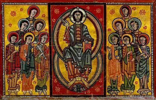 alte-karten-und-zeichnungen - Pantocrator y Apóstoles - _Anonym Spanien
