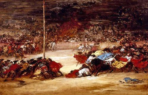 alte-karten-und-zeichnungen - La corrida - Goya y Lucientes, Francisco de
