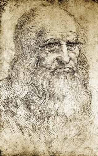 alte-karten-und-zeichnungen - Autorretrato de Leonardo da Vinci - Vinci, Leonardo da