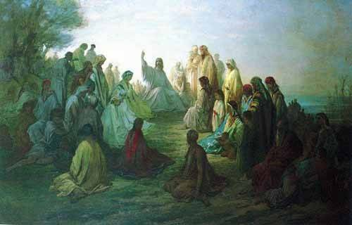 alte-karten-und-zeichnungen - Jesús predicando en la montaña - Doré, Gustave