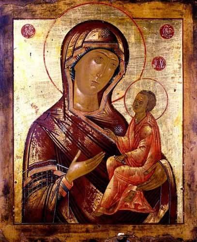 religioese-gemaelde - La Virgen Hodogetria - _Anonym Russland