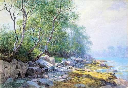 alte-karten-und-zeichnungen - Seal Harbor Mount Desert Maine - Haseltine, William