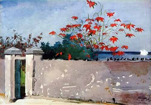 alte-karten-und-zeichnungen - Un Muro, Nassau - Homer, Winslow