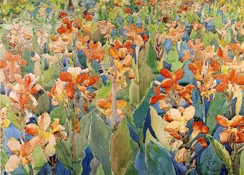 alte-karten-und-zeichnungen - Cama de flores - Prendergast, Maurice