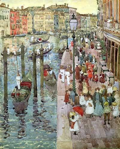 alte-karten-und-zeichnungen - Gran Canal de Venecia, 2 - Prendergast, Maurice
